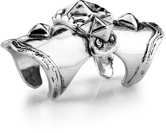 Low Luv x Erin Wasson Armor Knuckle Ring - Silver Plated