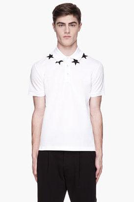 Givenchy White star applique polo
