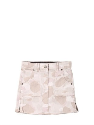 Stella McCartney Denim Camouflage Skirt
