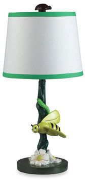 Bumble Bee Dimond Lighting Bruce the Table Lamp With Coordinating Fabric Shade