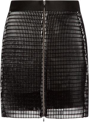 Antonio Berardi Flocked Airtex Mini Skirt
