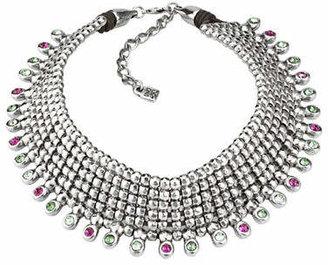 Uno de 50 Jungle Brilliant Silver Statement Bib Necklace