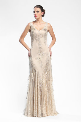 Sue Wong - N16132NM Gown In Parchment $658 thestylecure.com