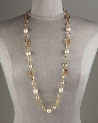 Majorica Jewelry Ltd Link Necklace