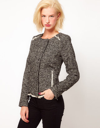 Asos Tweed Biker Jacket