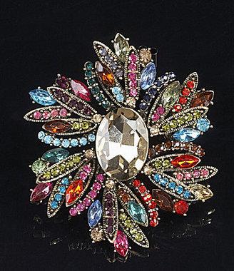 Natasha Accessories Flower Brooch