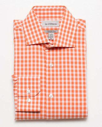 Le Château Cotton Check Tailored Fit Dress Shirt