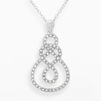 Amore By Simone I. Smith AMORE by SIMONE I. SMITH Platinum Over Silver Crystal Infinity Pendant