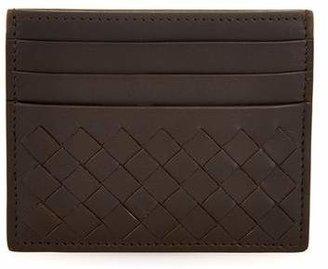 Bottega Veneta Intrecciato Leather Cardholder - Mens - Brown