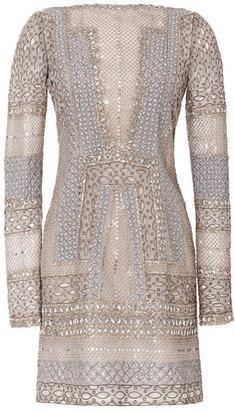 J. Mendel Long Sleeve Mini Dress