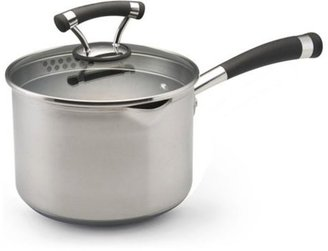 Circulon 3-qt. Nonstick Contempo Stainless Steel Straining Sauce Pan