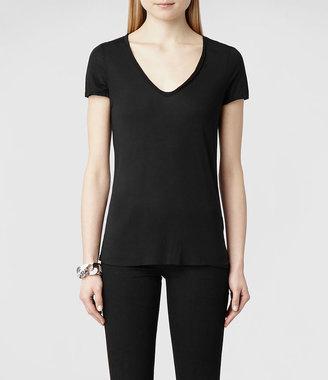 AllSaints Silk Biker T-shirt