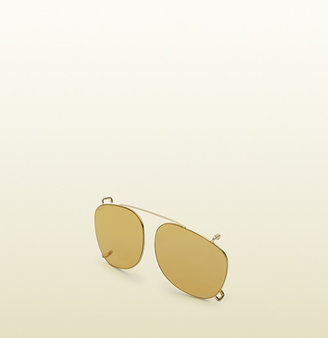 Gucci Gold Clip-On Shades