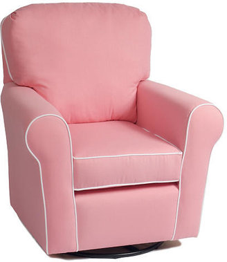 Oxford The Kacy Collection Noble Loose Cushion Glider - Pink with White Piping Fabric
