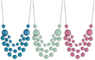Z Designs Round Bead Drape Necklace