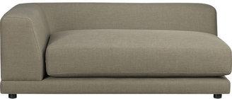 CB2 Uno Caper Left Arm Sofa