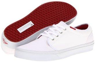 Vans 106 Vulcanized ((Ripstop) True White/Chili Pepper) - Footwear