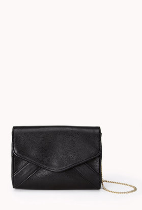 Forever 21 Classic Faux Leather Evelope Crossbody