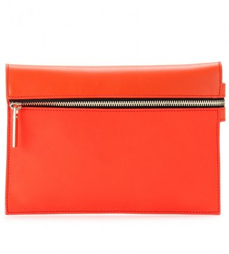 Victoria Beckham SUNSET ZIP LEATHER CLUTCH