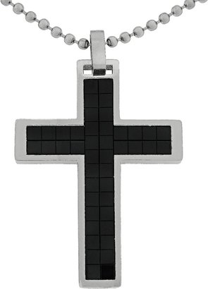 Lynx Stainless Steel Cross Pendant