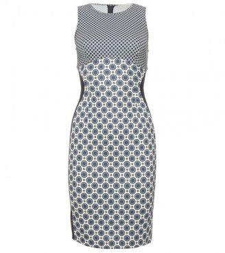 Stella McCartney PRINTED DRESS WITH MESH YOKE
