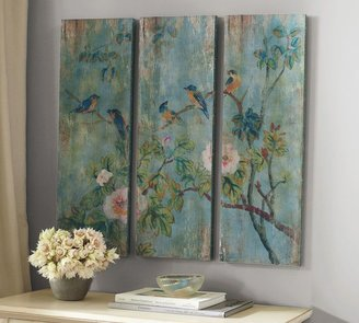 Pottery Barn Bird & Branch Triptych Panels