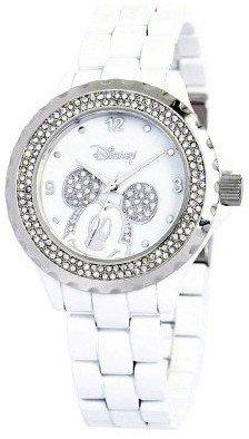 Disney Women's Mickey White Enamel Watch