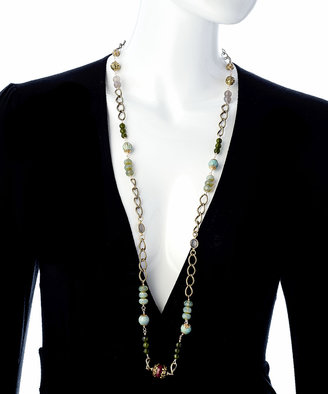 Marie Chavez Long Multi Gemstone Necklace