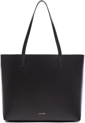 Mansur Gavriel Large Tote in Black & Flamma | FWRD