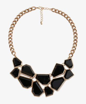 Forever 21 Jigsaw Bib Necklace
