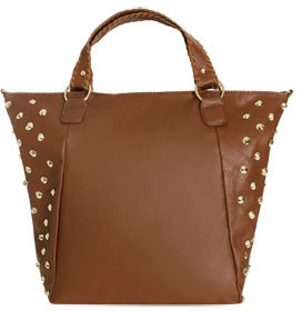 Wet Seal WetSeal Studded Oversized Tote Cognac
