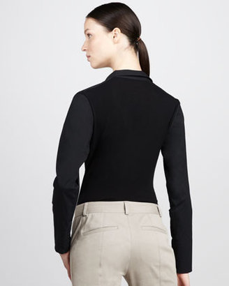 Donna Karan Jersey-Back Bodysuit