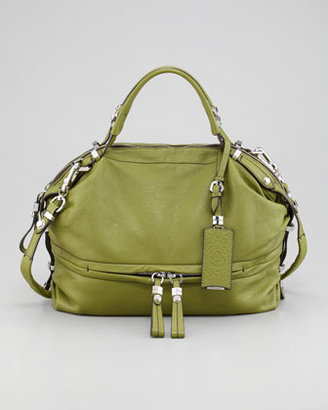 Oryany Holly Slouchy Satchel Bag, Green