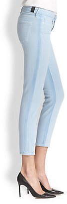 Vince Double Ghost Stripe Ankle Skinny Jeans