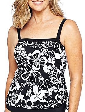 JCPenney Azul by Maxine of Hollywood® Faux Tankini One-Piece Swimsuit