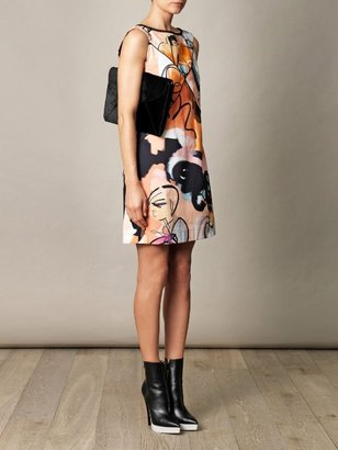 Giles girls illustrated canvas shift dress
