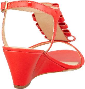 Kate Spade Darcey Bow-Studded Wedge Sandal, Orange