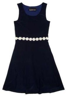 Un Deux Trois Girl's Daisy Trim Dress
