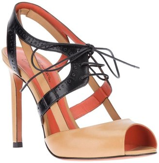 Santoni lace up sandal