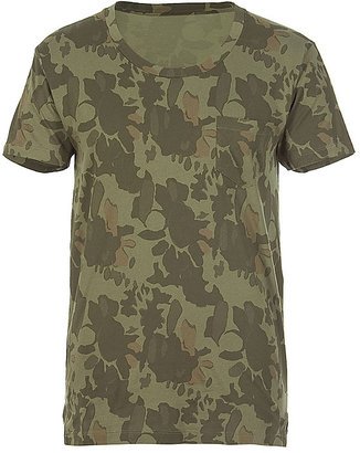 Marc by Marc Jacobs Green Multi Camo T-Shirt
