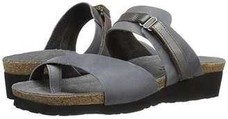 Naot Footwear Jessica (Black Shiny Leather/Black Nubuk) Women's Sandals