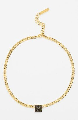 Vince Camuto 'Blow Up Pyramid' Leather Stud Pendant Necklace