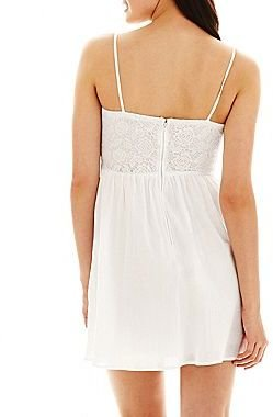 JCPenney Crochet-Bodice Gauze Dress