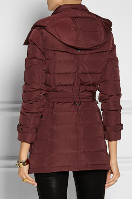 Burberry Hooded quilted down coat