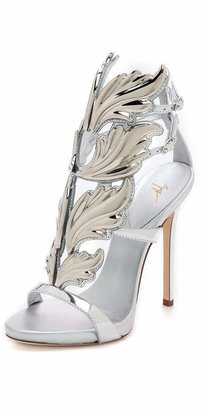Giuseppe Zanotti Metal Wing Sandals $1,595 thestylecure.com