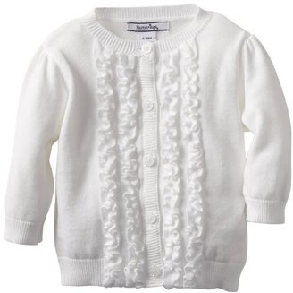 Hartstrings Baby-Girls Infant Cotton Long Sleeve Self Fabric Center Front Ruffles Cardigan Sweater