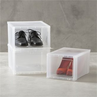 Crate & Barrel Large Clear Shoe Box.