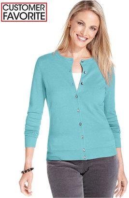 Charter Club Sweater, Long Sleeve Classic Cardigan