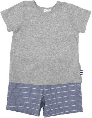 Splendid Baja Stripe Top and Shorts