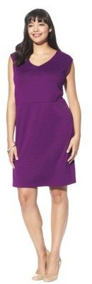 Mossimo Women's Plus-Size Zipper-Pocket Ponte Dress - Assorted Colors